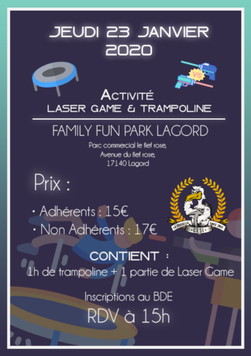 Affiche Activité Laser Game & Trampoline Park